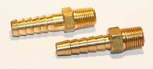 1/8 NPT Brass barbed hose tail fitting
