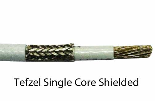 Shielded single core Tefzel Aviation Wire MIL-W-22759/16