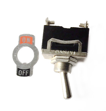 Toggle switch with ON/OFF plate
